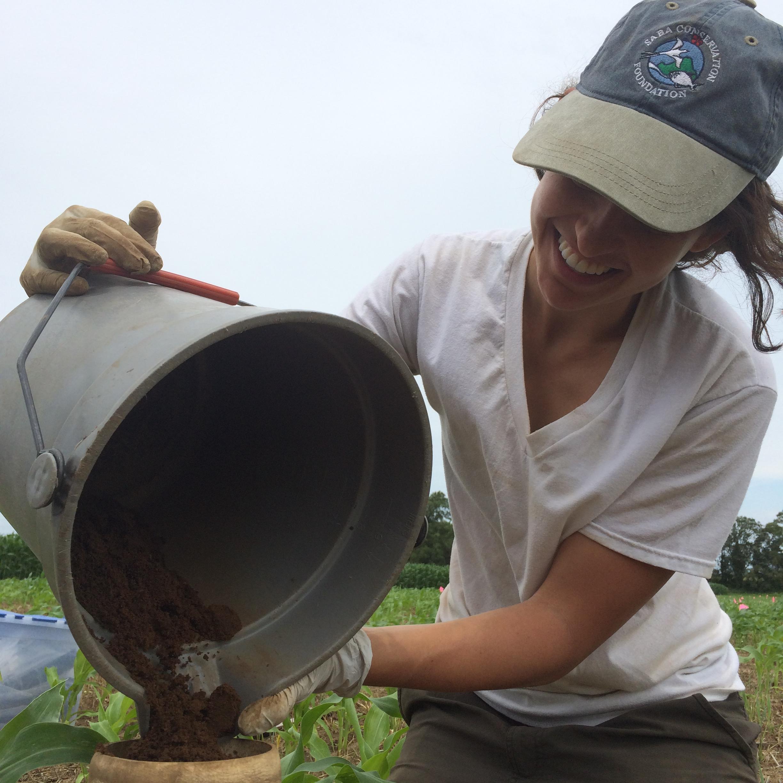Kate dumping soil