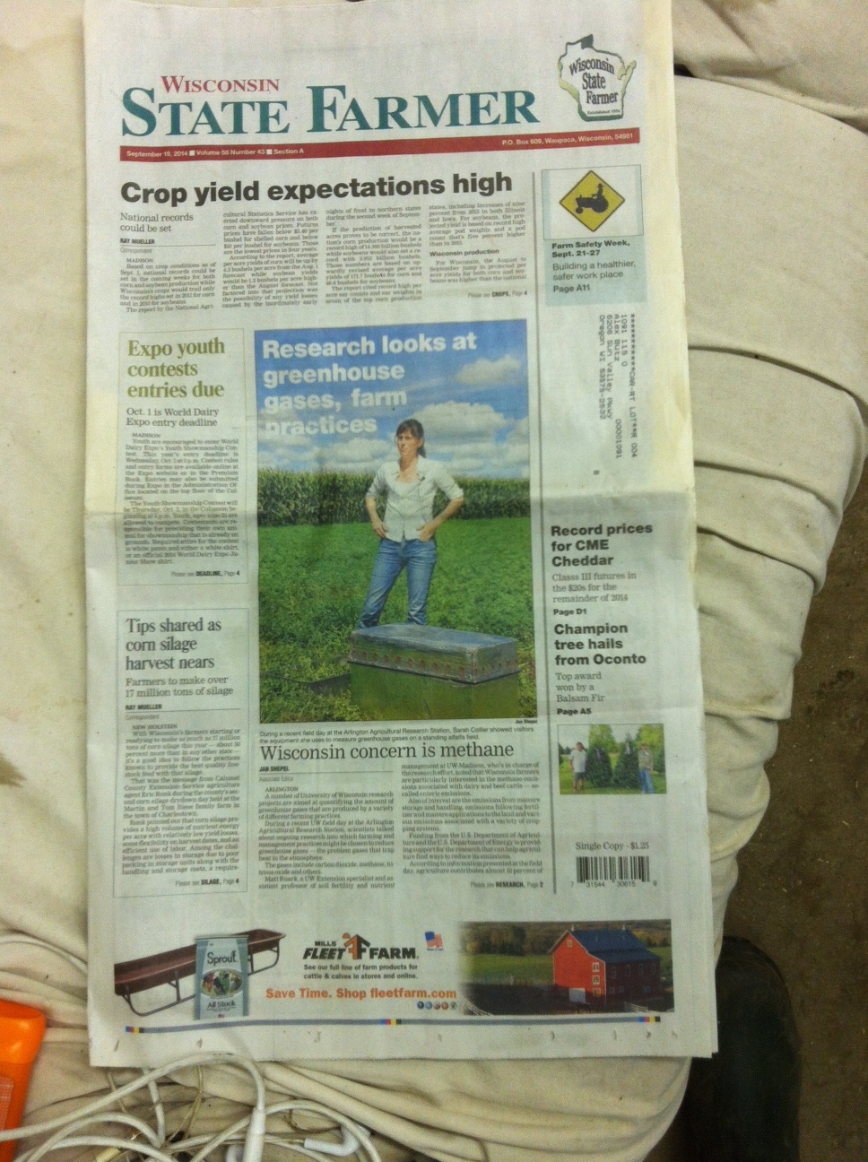 Collier - cover of Wisconsin State Farmer