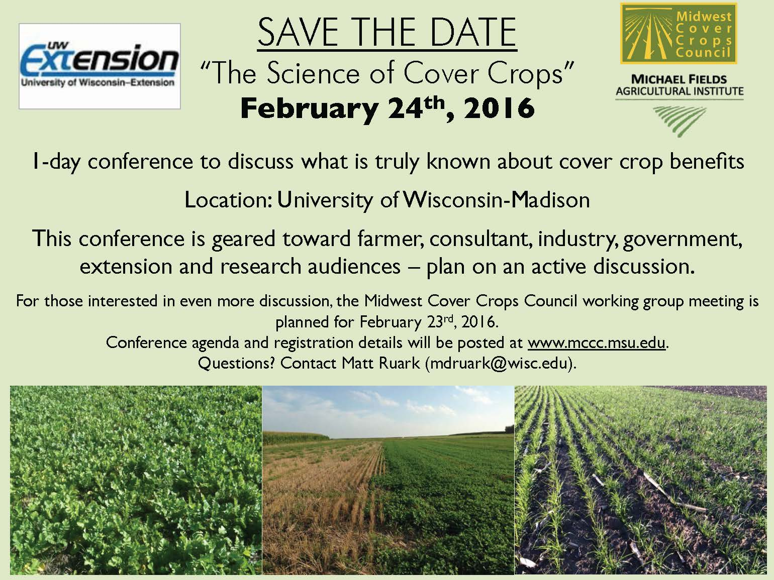 Save the Date - The Science of Cover Crops